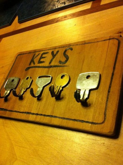Идея для ключницы своими руками фото