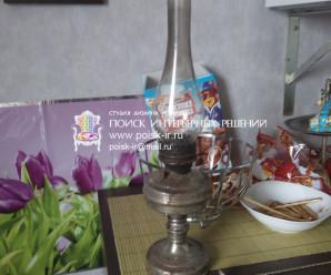 Старая керосиновая лампа — фото