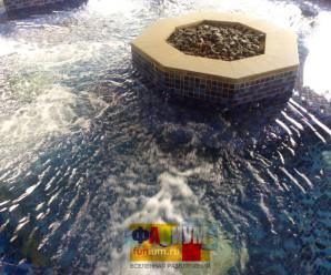 Бассейн с подогревом в Китае, фото.